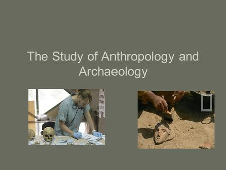 The Study of Anthropology and Archaeology. Definitions Anthropology is the study of the human skeleton Archaeology is the systematic study of past human.