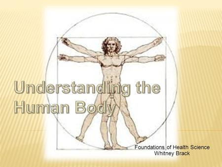 Foundations of Health Science Whitney Brack. How do the organs and systems in my body work together?  To understand how the human body works, it is necessary.