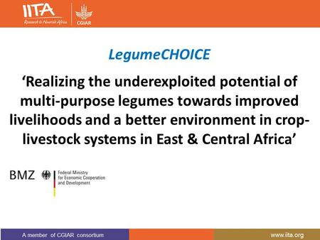 'Realizing the underexploited potential of multi-purpose legumes towards improved livelihoods and a better environment in crop- livestock systems in East.