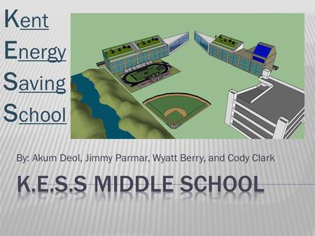 By: Akum Deol, Jimmy Parmar, Wyatt Berry, and Cody Clark K ent E nergy S aving S chool.