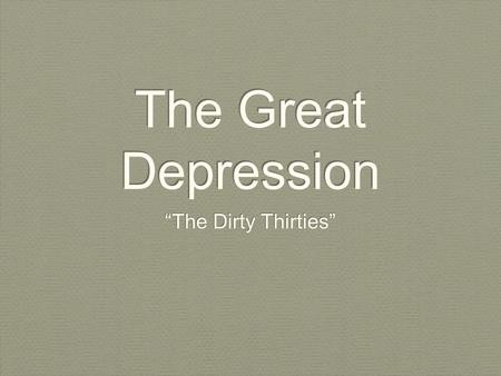 "The Great Depression ""The Dirty Thirties"". Mother of 7 Children."