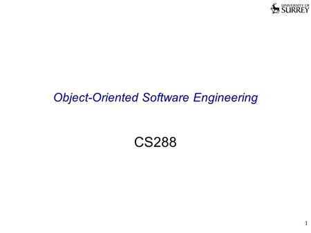 1 Object-Oriented Software Engineering CS288. 2 Interfaces Interfaces are contracts Contracts between software groups Defines how software interacts with.