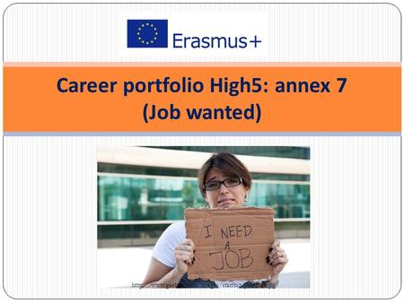 Career portfolio High5: annex 7 (Job wanted)