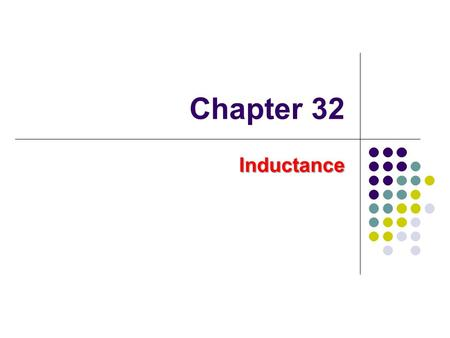 Chapter 32 Inductance. Joseph Henry 1797 – 1878 1797 – 1878 American physicist American physicist First director of the Smithsonian First director of.