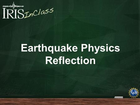 "Earthquake Physics Reflection. Briefly, ""explain"" the intent of this cartoon."