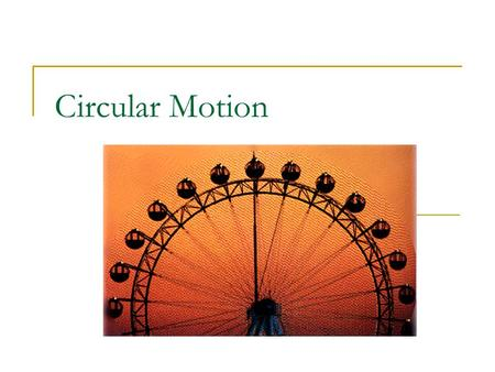Circular Motion. Vocabulary for Circular Motion Period(T): the time it takes for one rotation or revolution. Measured in seconds. Revolution: traveling.