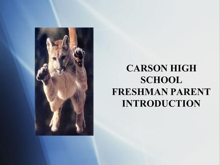 CARSON HIGH SCHOOL FRESHMAN PARENT INTRODUCTION. INTRODUCTION GOALS  Academic requirements  Skinnies  Who to contact  Dress Code  Get Involved 