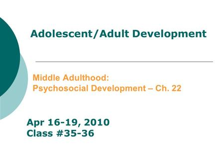 adult psychosocial development