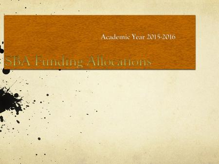 Agenda Allocation Factors Overview Reserve Funds Questions.