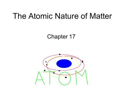 The Atomic Nature of Matter