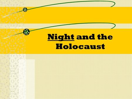 Night and the Holocaust. Opening Discussion Questions Respond to the two questions below in complete sentences. These are the first two questions on your.