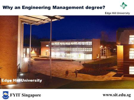 Why an Engineering Management degree?