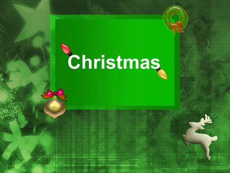 Christmas. Christmas is an important Christian festival celebrated on December 25th.