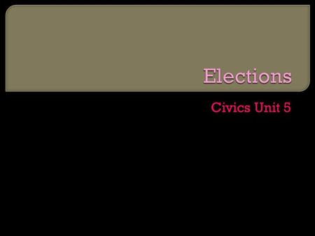 Civics Unit 5. Lesson 1  Answer the following questions on your own sheet of paper: What do you want from your government? What is a political party?