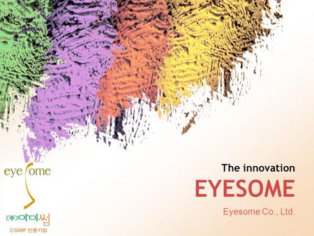 L/O/G/O The innovation EYESOME Eyesome Co., Ltd..