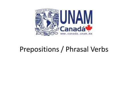 Prepositions / Phrasal Verbs. Prepositions A preposition is a small word (usually six letters or less) that is used to show the relationship between nouns.