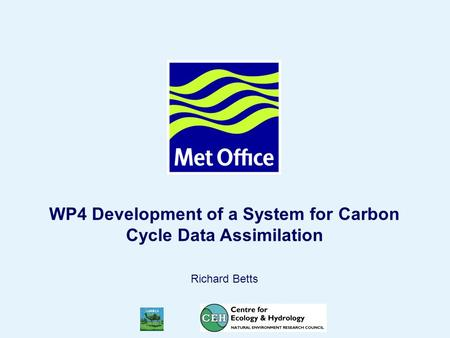Page 1© Crown copyright WP4 Development of a System for Carbon Cycle Data Assimilation Richard Betts.