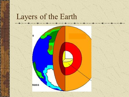 Layers of the Earth. Earth's Layers How are the earth's layers similar to an egg? Shell=crust Egg white=mantle Yolk=core.