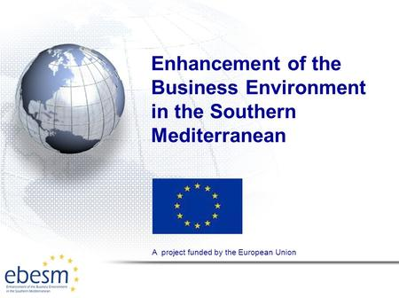 Enhancement of the Business Environment in the Southern Mediterranean A project funded by the European Union.