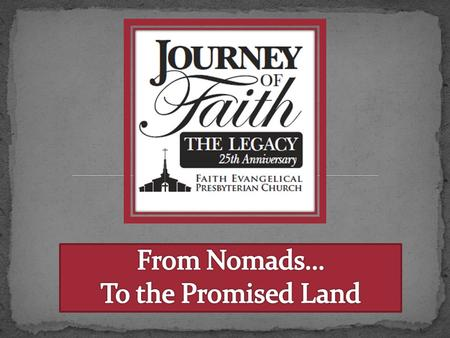 Nomads Promised Land Who Are We? 1988 to Present.