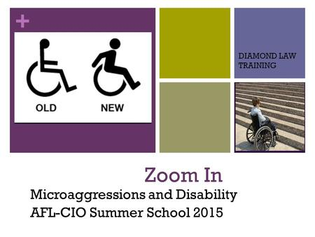 + Zoom In Microaggressions and Disability AFL-CIO Summer School 2015 DIAMOND LAW TRAINING.
