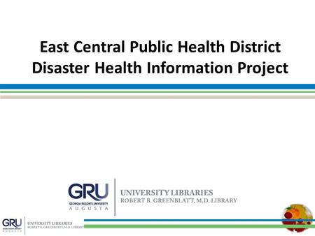 East Central Public Health District Disaster Health Information Project.