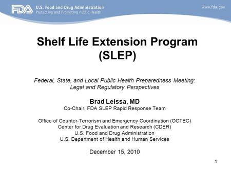 Shelf Life Extension Program (SLEP)