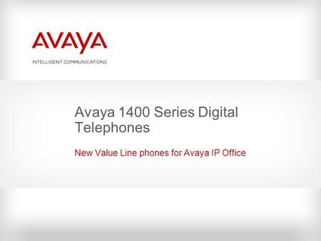 Avaya 1400 Series Digital Telephones New Value Line phones for Avaya IP Office.
