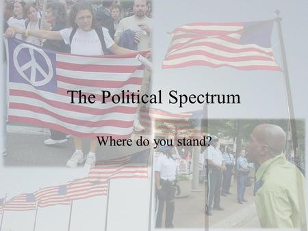 The Political Spectrum Where do you stand?. What is a Continuum? A person's views on the issues help determine where they fall on the political spectrum.