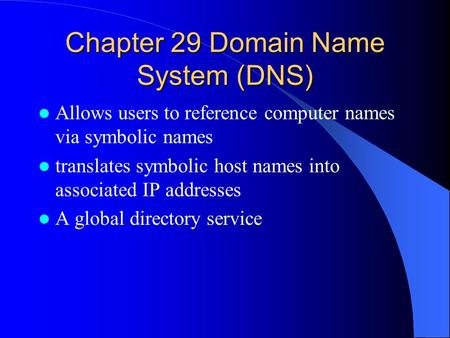 the use of the domain name system and ip addresses in computer technology Domain name system (dns) is a centralized mechanism for resolving / giving the ip addresses for a given domain name , it is the system that helps you to find the website using your internet browser , when you click on your internet browser ( internet explorer, safari, firefox etc ) , you will be able to type the name of the website.