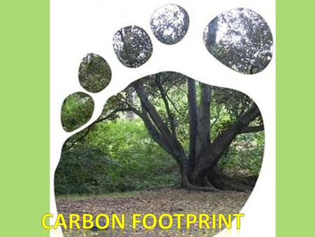What is a carbon footprint? A carbon footprint is the total set of greenhouse gas(GHS) emissions caused directly and indirectly by an individual, organization,