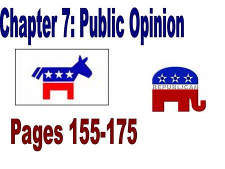 Bell Ringer 11-19-2007 Not create government that would do what the people want from day to day Check Public Opinion Popular rule –Elect House of Rep's,