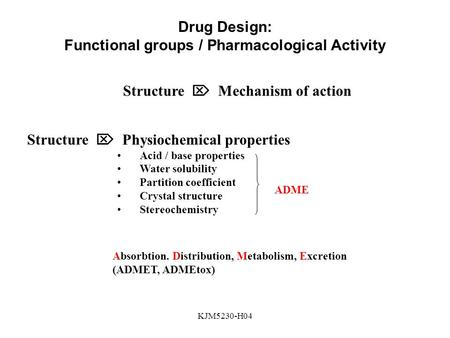 Functional groups / Pharmacological Activity