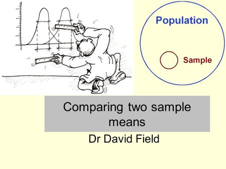 Comparing two sample means Dr David Field. Comparing two samples Researchers often begin with a hypothesis that two sample means will be different from.