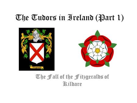 The Tudors in Ireland (Part 1) The Fall of the Fitzgeralds of Kildare.