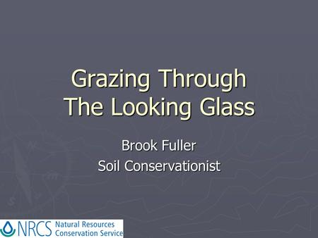 Grazing Through The Looking Glass Brook Fuller Soil Conservationist.