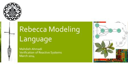 Rebecca Modeling Language Mahdieh Ahmadi Verification of Reactive Systems March 2014.