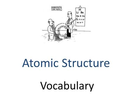 Vocabulary Atomic Structure. anion ___ are negatively charged ions - atoms that take electrons.