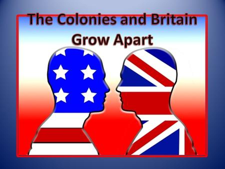 Before the FI War, the colonies were allowed to grow on their own. After the war—Parliament began passing new laws. – Proclamation of 1763 Most colonists.