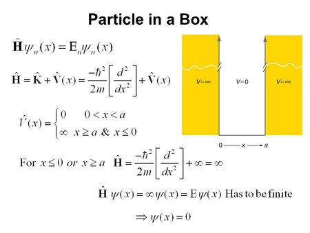 15_01fig_PChem.jpg Particle in a Box. Recall 15_01fig_PChem.jpg Particle in a Box.