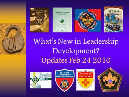 1 What's New in Leadership Development? Updates Feb 24 2010.