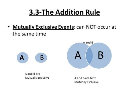 Addition Rule Objectives - ppt download