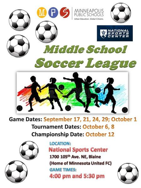 World Cup Style High School ADs will confirm registrations by September 9 th. All teams will be made up of boys and girls (Coed). Pool A : 1. Andersen.