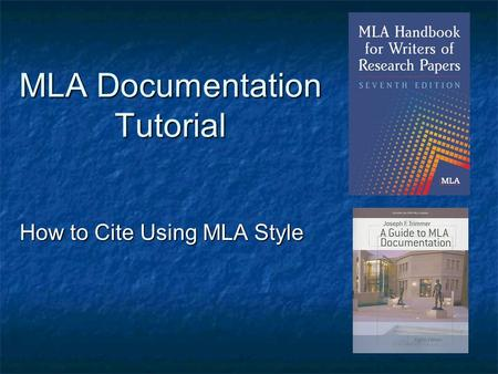 How to cite scientific papers mla