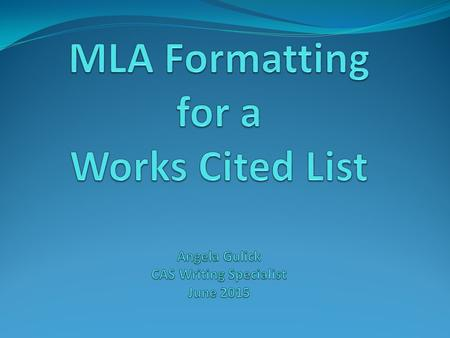 Definition of a Works Cited List A Works Cited list is an alphabetized listing of all the sources you directly mentioned in your paper. If a source is.