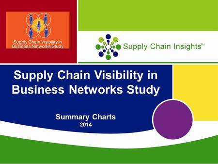 Supply Chain Visibility in Business Networks Study Summary Charts 2014.