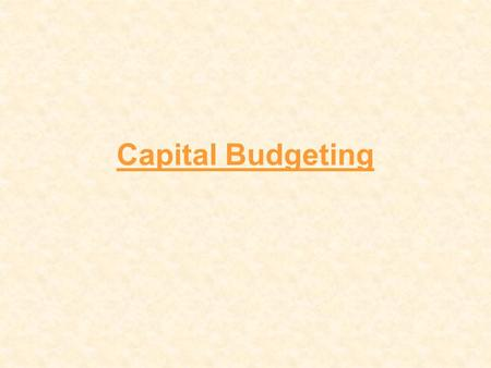 Capital Budgeting. Definition Capital budgeting is the planning process used to determine whether a firm's long term investments such as new machinery,