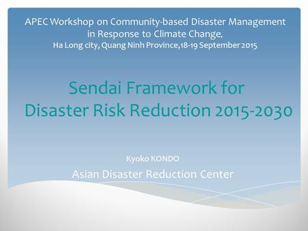 review of the hyogo framework for Undp and the hyogo framework for action the data for this report are taken largely from a review of undp's drr portfolio, with certain elements informed by the.