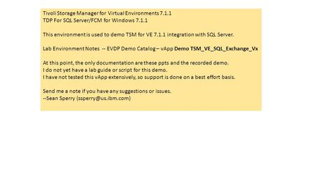 Tivoli Storage Manager for Virtual Environments 7.1.1