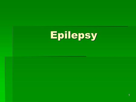 Epilepsy 1. Seizures A seizure is as a sudden, disorderly discharge of cerebral neurons. Seizures involve a transient alteration in brain function (motor,
